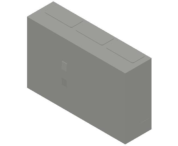 E_Distribution Panel_MEPcontent_ABB_ComfortLine B-Cabinets_3 Rows_B33 - IP44 108 modules 500x800x215_INT-EN.dwg