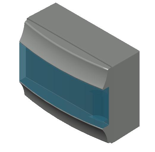E_Distribution Board_MEPcontent_ABB_MISTRAL65_12 modules 320x250x155 without terminals transparent door_INT-EN.dwg