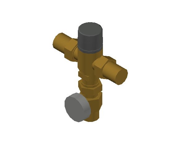 SA_Adjustable_Three-way_Thermostatic_Mixing_Valve_MEPContent_Caleffi-521A_DN15-DN25_1 in. SWT with integrated outlet temperature gauge_US-EN.dwg