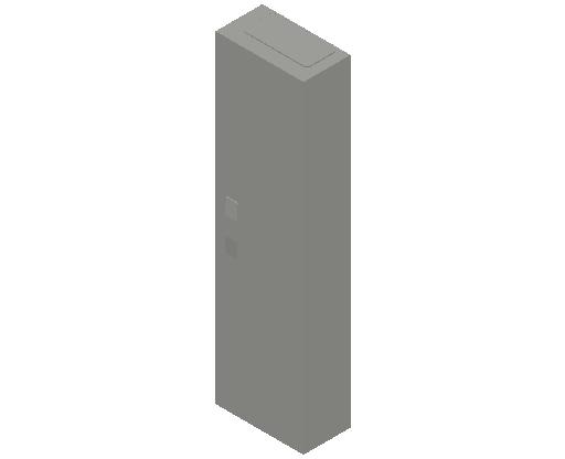 E_Distribution Panel_MEPcontent_ABB_ComfortLine CA-Cabinets_7 Rows_Empty Cabinet_CA17B - IP44 84 modules 1100x300x160 empty with door_INT-EN.dwg