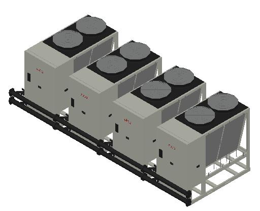 HC_Heat Pump_MEPcontent_Elco_Cascade AEROTOP L 61 4 Units_INT-EN.dwg