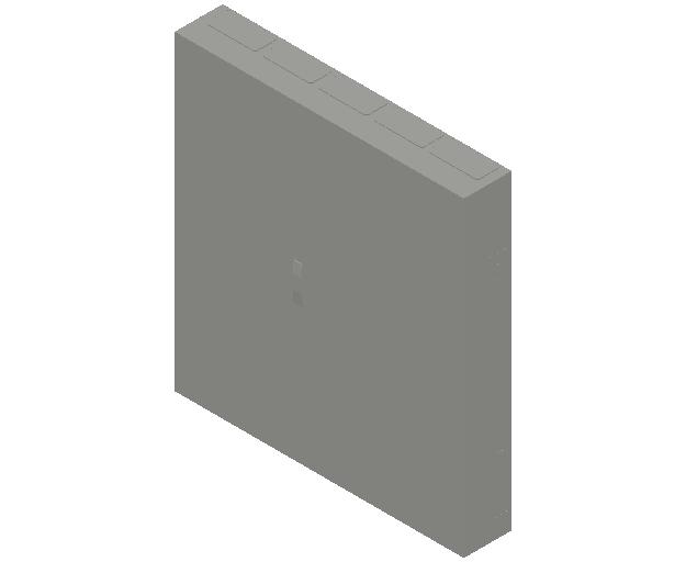 E_Distribution Panel_MEPcontent_ABB_ComfortLine B-Cabinets_9 Rows_B59 - IP44 540 modules 1400x1300x215_INT-EN.dwg