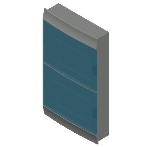 E_Distribution Board_MEPcontent_ABB_MISTRAL41F_Hollow Walls_72 modules 430x735x127 without terminals transparent door_INT-EN.dwg