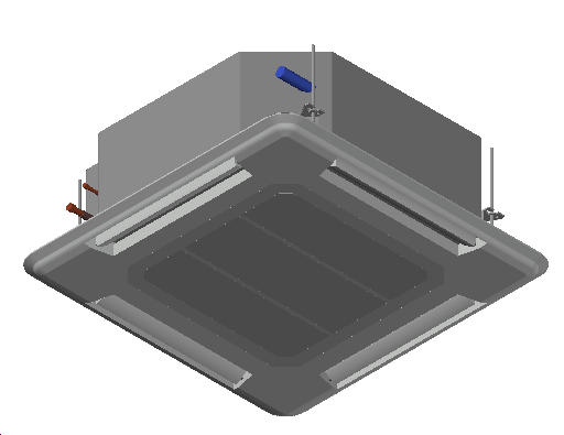HC_Air Conditioner_Indoor Unit_MEPcontent_Mitsubishi Electric Corporation_PLA-ZRP140BA_Power Inverter_1 Phase_INT-EN.dwg