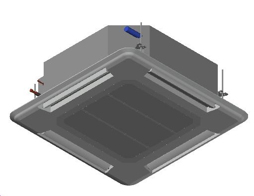 HC_Air Conditioner_Indoor Unit_MEPcontent_Mitsubishi Electric Corporation_PLA-ZRP50BA_Power Inverter_1 Phase_INT-EN.dwg