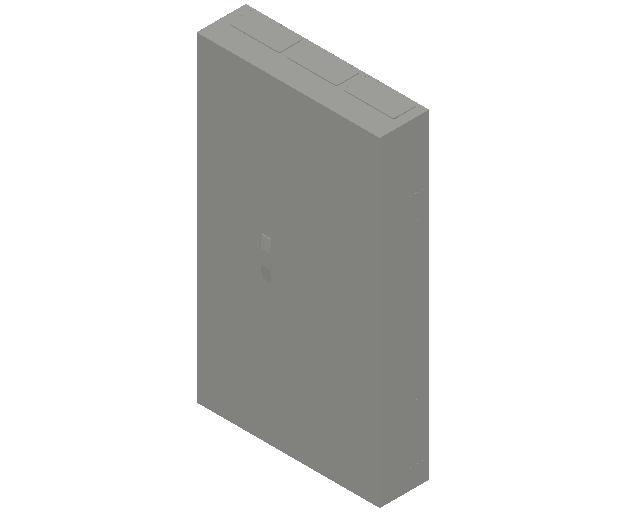 E_Distribution Panel_MEPcontent_ABB_ComfortLine B-Cabinets_9 Rows_B39 - IP44 324 modules 1400x800x215_INT-EN.dwg