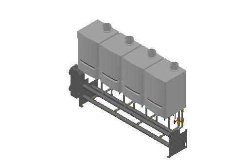HC_Boiler_MEPcontent_De Dietrich Thermique_Cascade Wall-Mounted 4_Evodens Pro_4x AMC 65 with Concentric Connection 150_INT-EN.dwg
