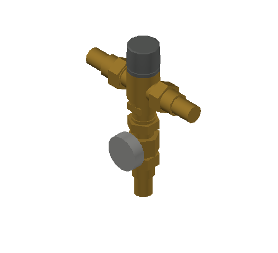 SA_Adjustable_Three-way_Thermostatic_Mixing_Valve_MEPContent_Caleffi-521A_DN15-DN25_1 in. PEX Expansion with integrated outlet temperature gauge_US-EN.dwg
