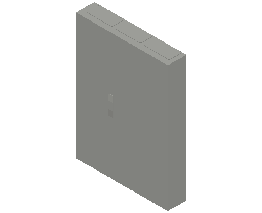 E_Distribution Panel_MEPcontent_ABB_ComfortLine CA-Cabinets_7 Rows_Empty Cabinet_CA37B - IP44 252 modules 1100x800x160 empty with door_INT-EN.dwg