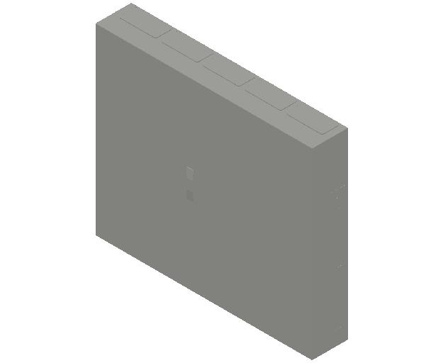 E_Distribution Panel_MEPcontent_ABB_ComfortLine B-Cabinets_7 Rows_B57 - IP44 420 modules 1100x1300x215_INT-EN.dwg