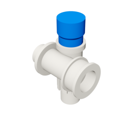 Valsir Pexal EASY Modular manifold with cap cold water