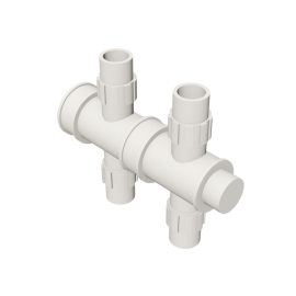 Valsir Pexal EASY 2-way cross modular manifold hot water