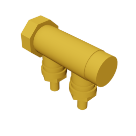 Valsir Pexal BRASS 2-way manifold hot water