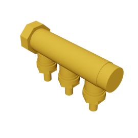 Valsir Pexal BRASS 3-way manifold cold water