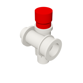 Valsir Pexal EASY Modular manifold with cap hot water