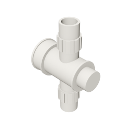 Valsir Pexal EASY Cross modular manifold hot water