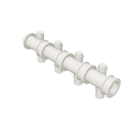 Valsir Pexal EASY 4-way modular manifold with offset hot water