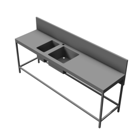 Unspecified Counter with sink 2400x600