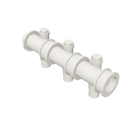 Valsir Pexal EASY 3-way modular manifold with offset hot water