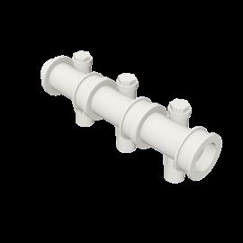 Valsir Pexal EASY 3-way modular manifold with offset hot water