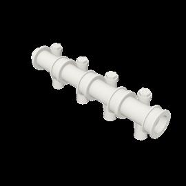 Valsir Pexal EASY 4-way modular manifold with offset hot water