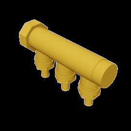 Valsir Pexal BRASS 3-way manifold hot water