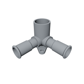 Isotubi Double Elbow with Wallnut